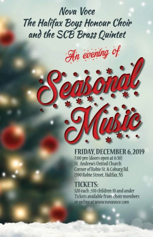 An Evening of Seasonal Music @ St. Andrew's United Church