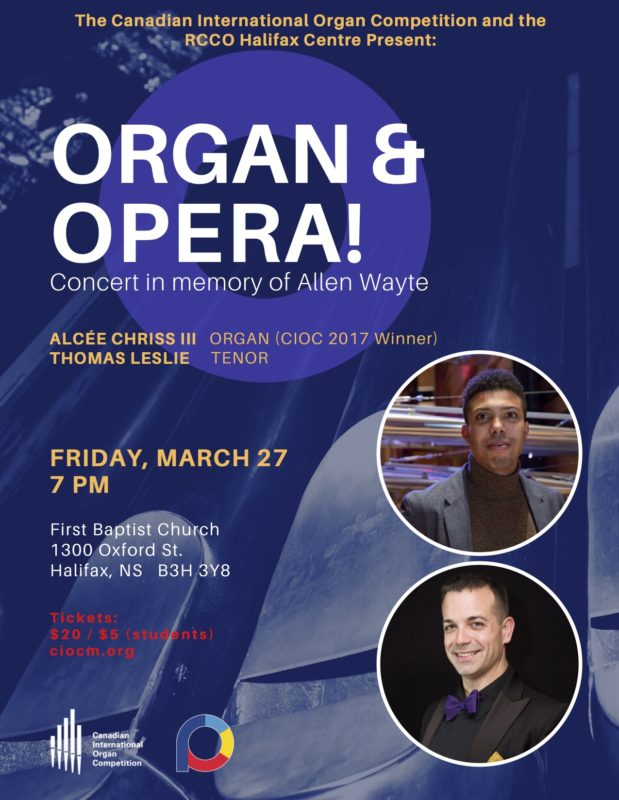 Organ & Opera! @ First Baptist Church